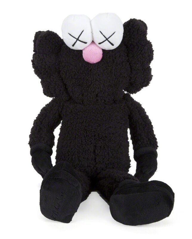 KAWS, 'BFF Plush Doll (Black)', 2016, Sculpture, Polyester, Lougher Contemporary