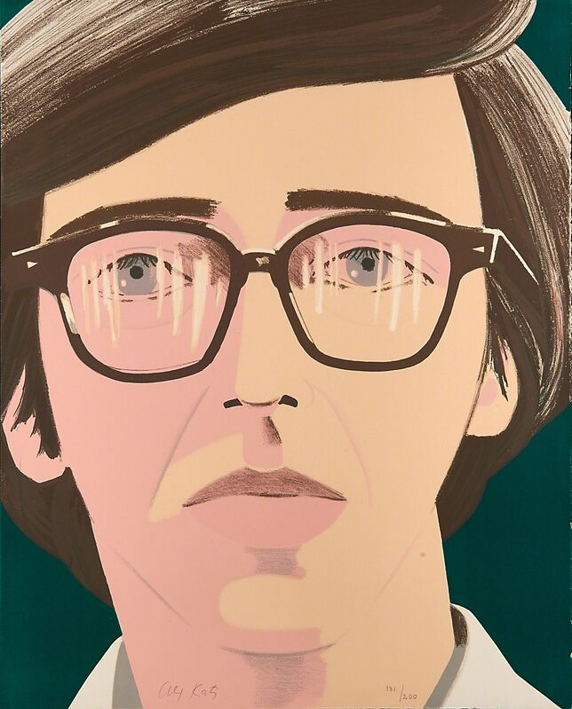 Alex Katz, 'Portrait of a Poet: Kenneth Koch', 1970, Print, Lithograph in colors on Arches paper, Rago/Wright
