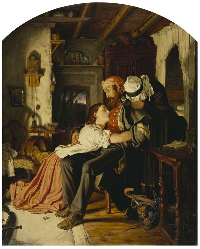 Joseph Noël Paton, 'Home (The Return from the Crimea)', 1859, Painting, Royal Collection Trust