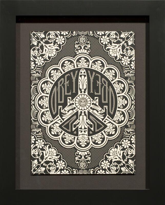 Shepard Fairey, 'PEACE BOMBER OFFSET', 2007, Print, Screenprint on paper, Rudolf Budja Gallery