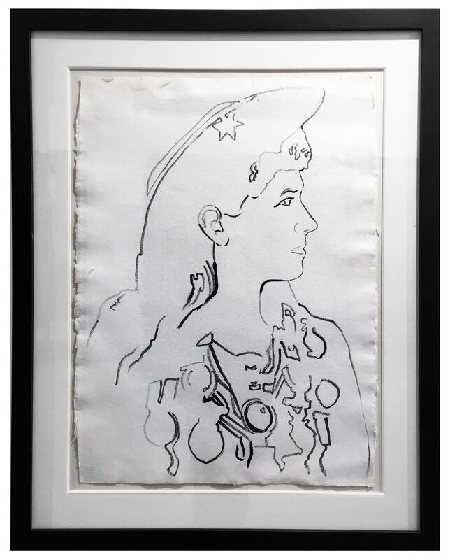 Andy Warhol, 'Annie Oakley', 1986, Drawing, Collage or other Work on Paper, Graphite on paper, Pop International Galleries