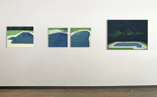 Poolside, installation view