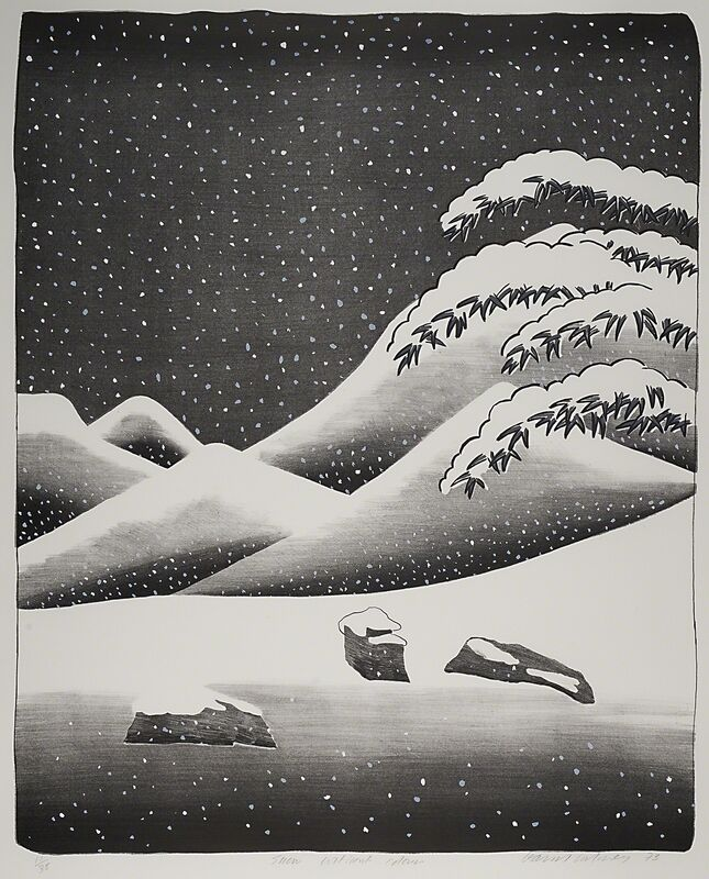 David Hockney, 'Snow Without Colour', 1973, Print, Lithograph and screenprint in colors on Arjomari mould-made paper (framed), Rago/Wright/LAMA