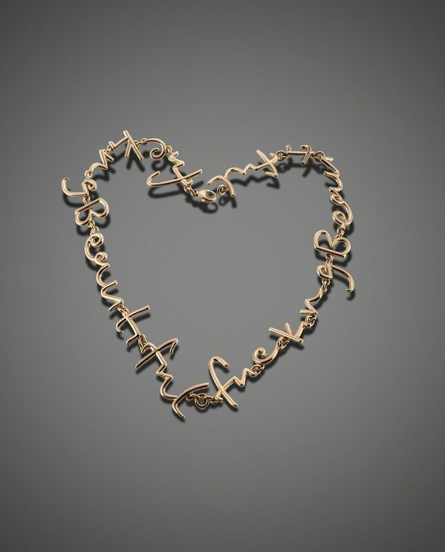 Tim Noble & Sue Webster, 'Fucking Beautful Necklace', 2014, Jewelry, 18ct rose gold, Louisa Guinness Gallery