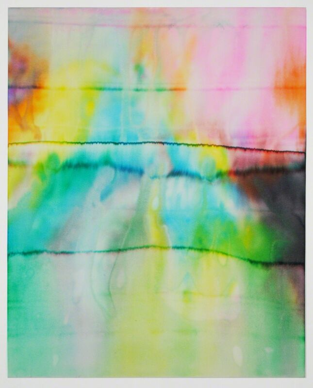 Ben Weiner, '5 Hour Energy Drawing #1', 2014, Drawing, Collage or other Work on Paper, Ink on chromatography paper soaked in 5-Hour Energy, Grey Area