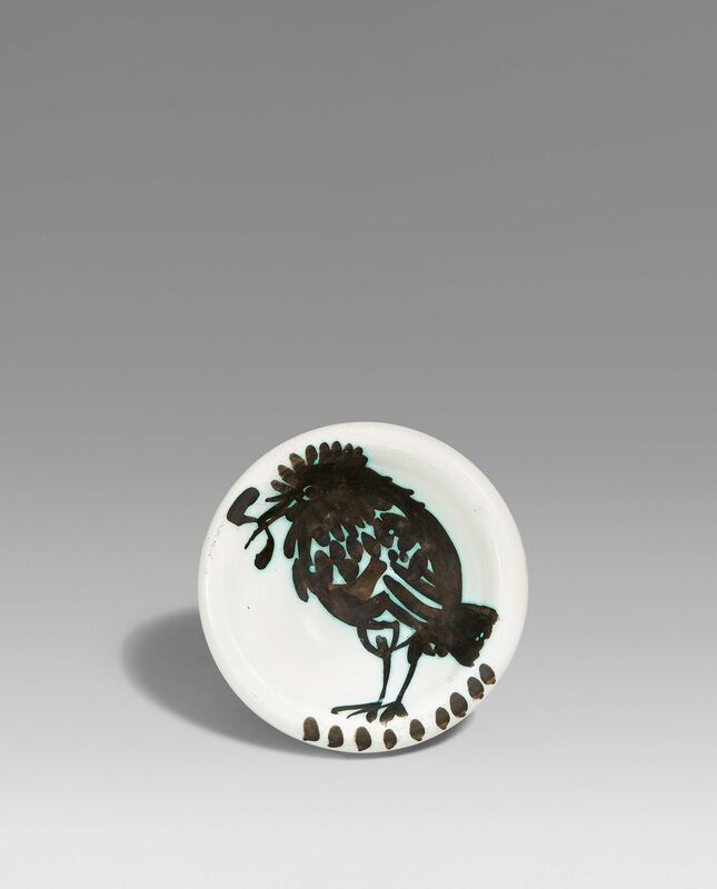 Pablo Picasso, 'Bird with worm', 1952, Design/Decorative Art, White earthenware clay, partially polychromed and glazed, Van Ham