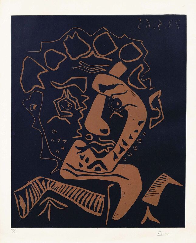 Pablo Picasso, 'Tête d'Histrion (Le Danseur)', 1965, Print, Linocut printed in black and brown on Arches wove paper, Christie's