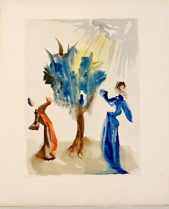 Salvador Dalí, 'La Divine Comédie - Purgatoire 24 - L'arbre du châtiment', 1963, Print, Original wood engraving on BFK Rives paper, Samhart Gallery