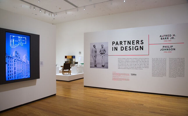 Partners In Design: Alfred H. Barr Jr. and Philip Johnson, installation view