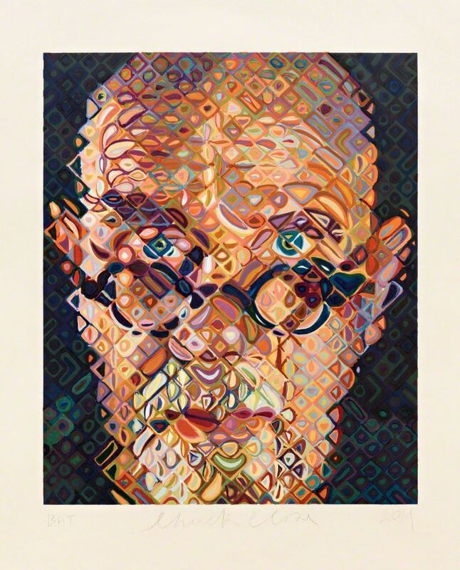 Chuck Close, 'Self-Portrait', 2015, Print, Gravure sur bois avec 84 couleurs / 84-color woodcut, Galerie de Bellefeuille