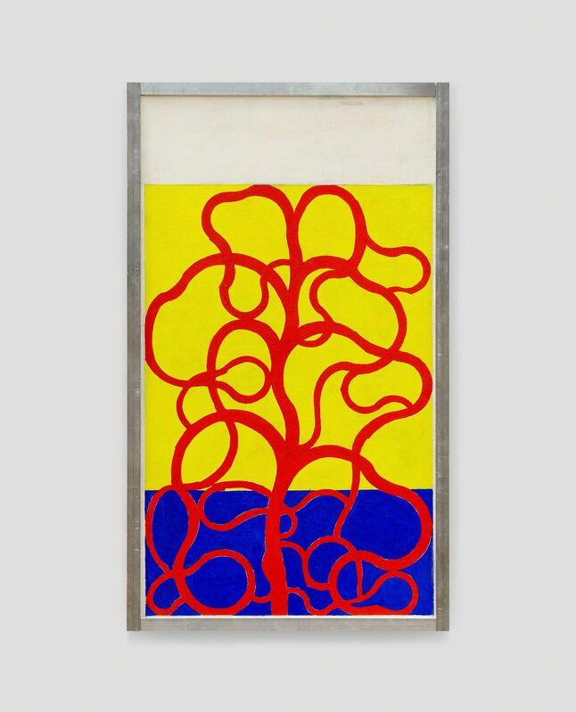 Atelier Pica Pica, 'Sans Titre (Planterouge)', 2018, Painting, Gouache on unalit, aluminum frame, V1 Gallery