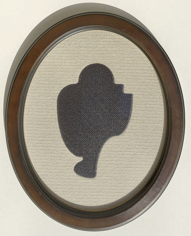 Allan McCollum, 'Threaded Shapes Nº 127', 2005/2010, Textile Arts, Digital Embroidery on Cotton with frame, Solo Impression, Inc.