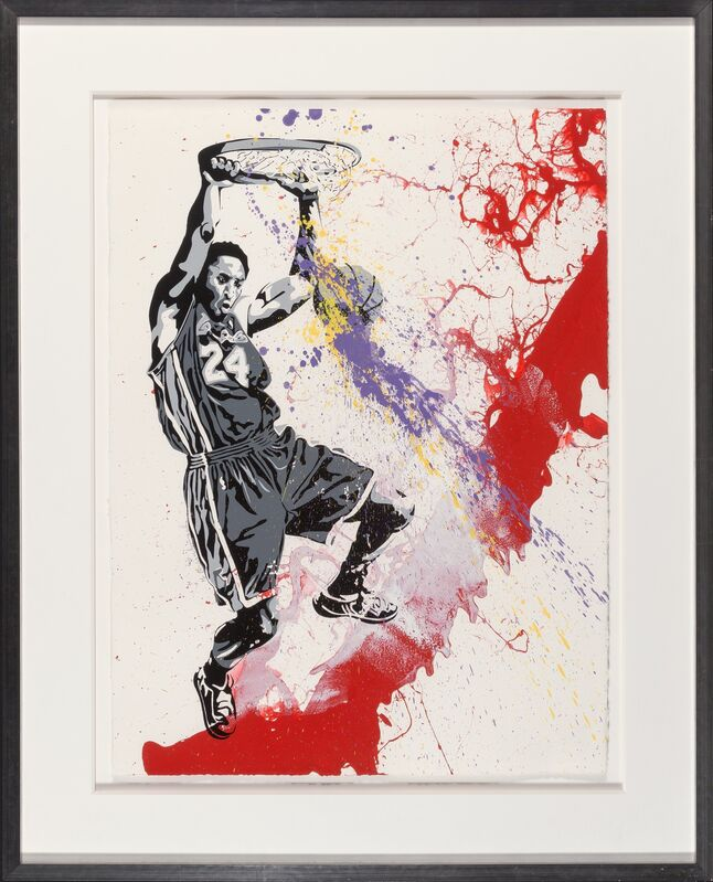 Mr. Brainwash, 'Number 24 (Red Splash)', 2009, Print, Screenprint and spray paint with acrylic hand embellishments on Textured Archival Art paper, Heritage Auctions