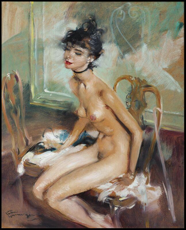Jean Gabriel Domergue, 'Siska', Circa 1950, Painting, Oil on board, Galerie de Souzy