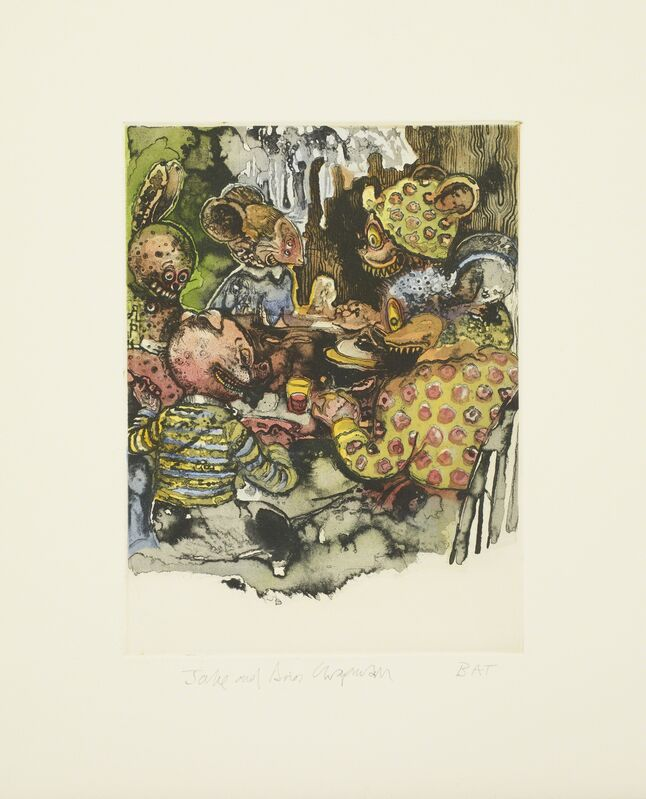 Jake & Dinos Chapman, 'Untitled 13 from Bedtime Tales for Sleepless Nights ', 2013, Print, Colour etching, Paragon