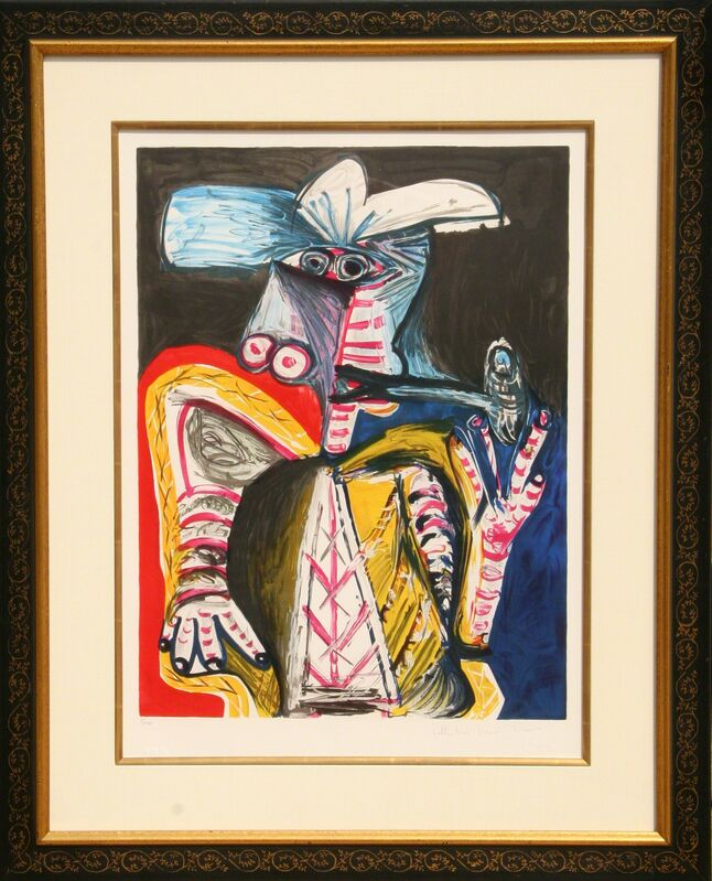 Pablo Picasso, 'Personnage a la Pipe', 1982, Print, Lithograph on Arches Paper, RoGallery