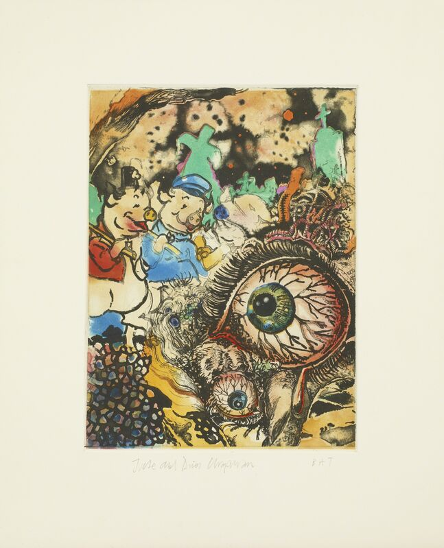 Jake & Dinos Chapman, 'Untitled 03 from Bedtime Tales for Sleepless Nights', 2013, Print, Colour etching, Paragon