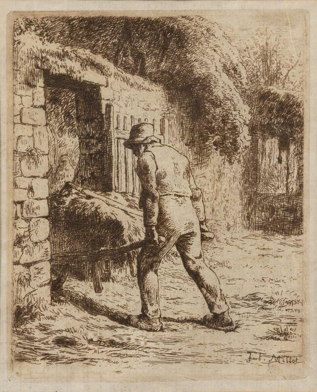 Jean-François Millet, 'Le Paysan rentrant du fumier', Print, Etching printed in dark brown on thin Japan paper, Hindman