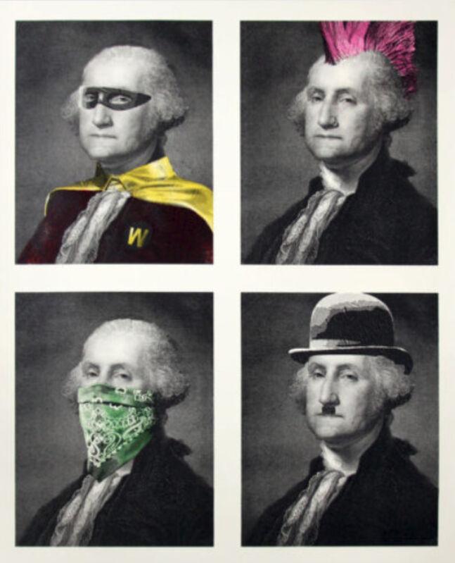 Mr. Brainwash, 'President's Day (Washington Quad)', 2018, Print, Silkscreen on paper, DANE FINE ART