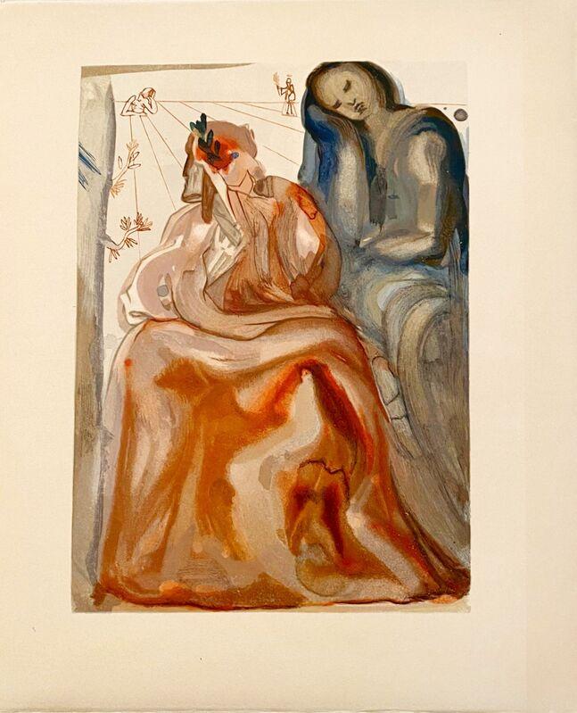 Salvador Dalí, 'La Divine Comédie - Purgatoire 31 - La confession de Dante', 1963, Print, Original wood engraving on BFK Rives paper, Samhart Gallery