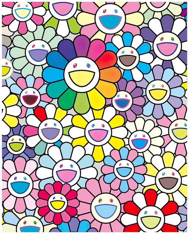 Takashi Murakami, 'Flowers of hope', 2020, Print, Inkjet, Pinto Gallery