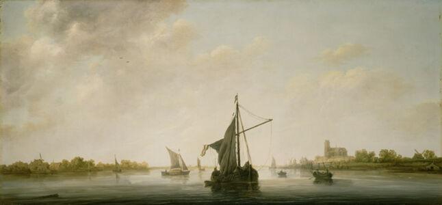 Aelbert Cuyp, 'A View of the Maas at Dordrecht', 1645-1646