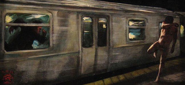 Philip Gladstone, 'Subway Chase', ca. 2013