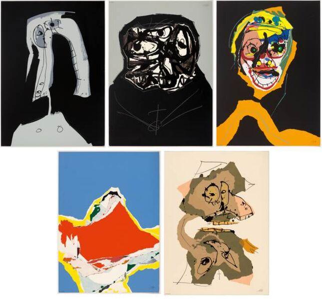 Antonio Saura, 'Aphorismen. Nr. 163-167', 1973