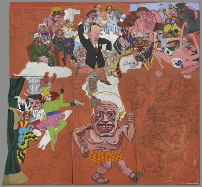 Red Grooms, 'Picasso Goes to Heaven', 1973