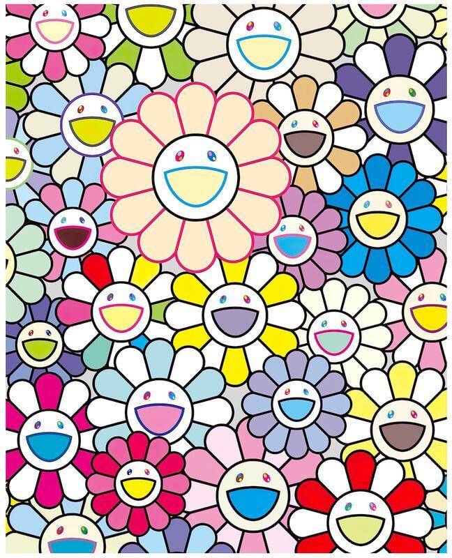 Takashi Murakami, 'Field of flowers', 2020, Print, Inkjet, Pinto Gallery