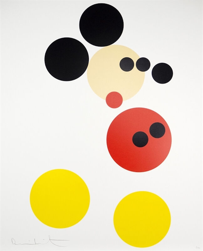 Damien Hirst, 'Mickey', 2014, Print, Screenprint in colors with glazes on wove paper, Upsilon Gallery