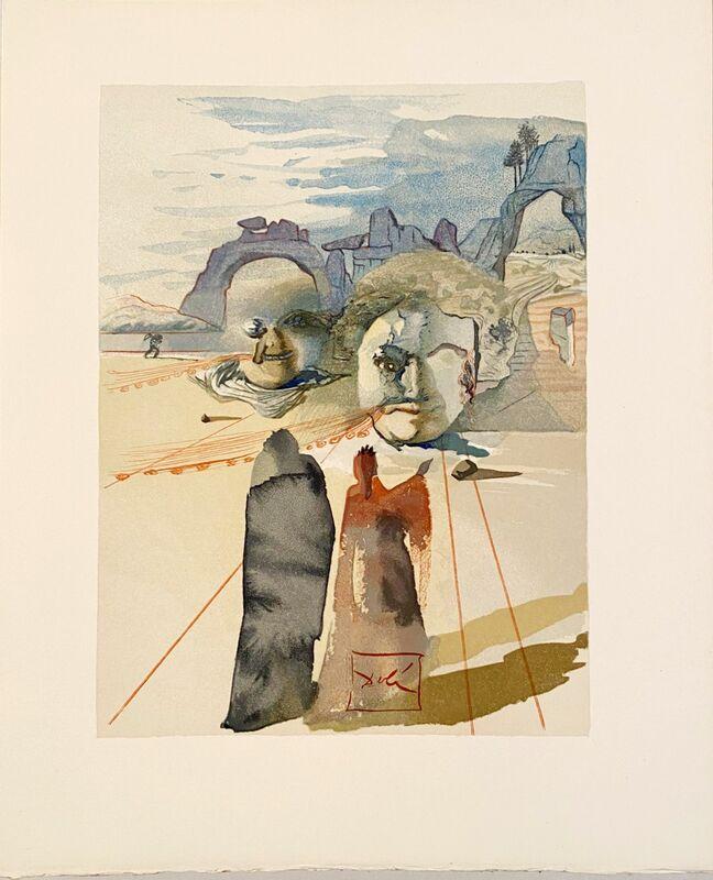 Salvador Dalí, 'La Divine Comédie - Purgatoire 20 - Avarice et prodigalité', 1963, Print, Original wood engraving on BFK Rives paper, Samhart Gallery