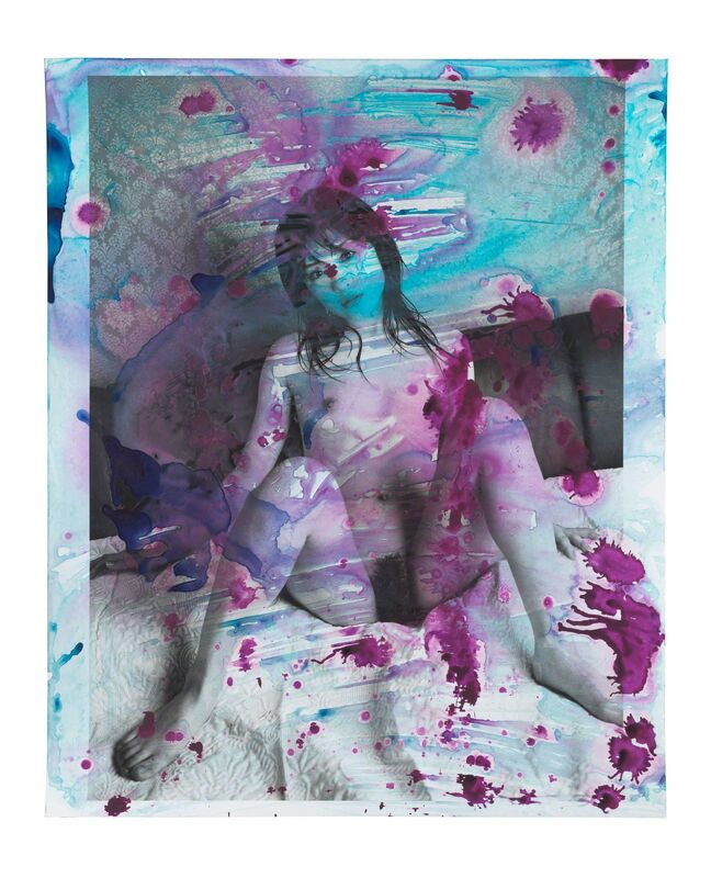 Nobuyoshi Araki, 'Alluring Hell', 2008, Photography, Painting on silver gelatin print, unique piece, Alex Daniels - Reflex Amsterdam