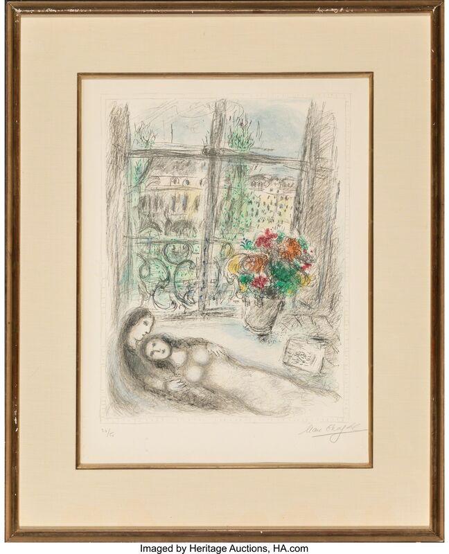 Marc Chagall, 'Quai des Célestins', 1975, Print, Lithograph in colors on Arches paper, Heritage Auctions