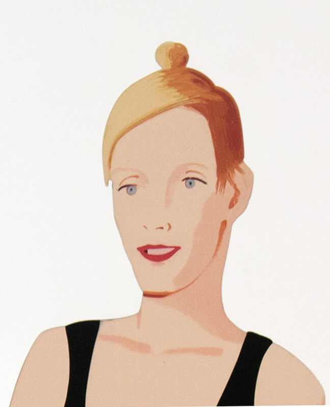 Alex Katz, 'Oona', 2018, Sculpture, Cutout from shaped powder-coated aluminum, printed the same on each side with UV cured archival inks, clear coated, and mounted to 1/4 inch stainless steel base, Meyerovich Gallery