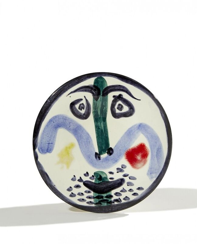 Pablo Picasso, 'Visage no.130', 1963, Sculpture, White earthenware clay, decoration in engobes and enamel under glaze, BAILLY GALLERY