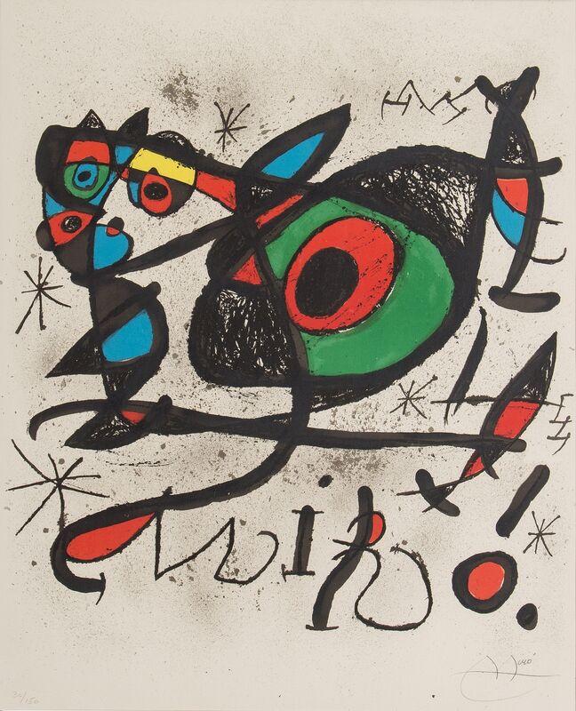 Joan Miró, 'Sobreteixims i escultures', 1972, Print, Lithograph on paper, Art Perspective