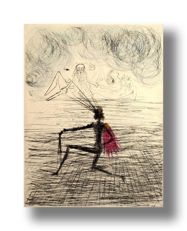 Salvador Dalí, 'Kneeling Knight', 1968, Print, Drypoint on Paper, Animazing Gallery