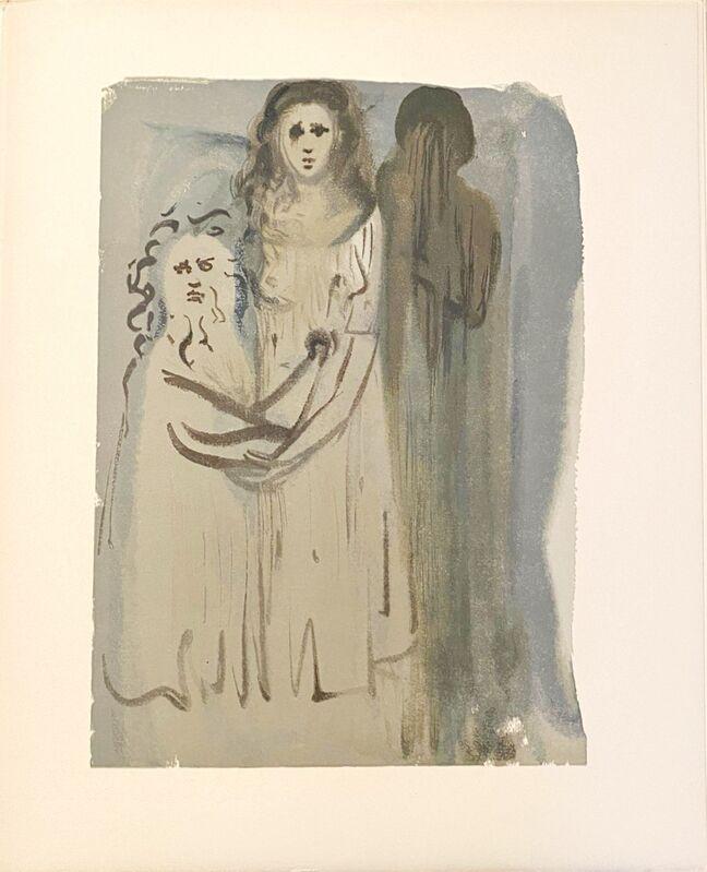 Salvador Dalí, 'La Divine Comédie - Purgatoire 16 - Dans la fumée des Coléreux', 1963, Print, Original wood engraving on BFK Rives paper, Samhart Gallery