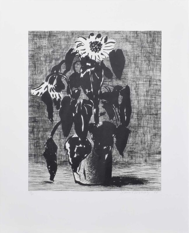David Hockney, 'Sunflower II', 1995, Print, Etching and aquatint, Lougher Contemporary