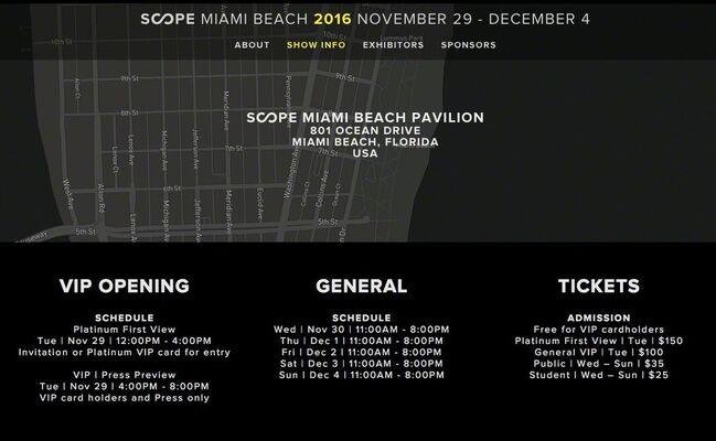 Galerie Galea at SCOPE Miami Beach 2016, installation view