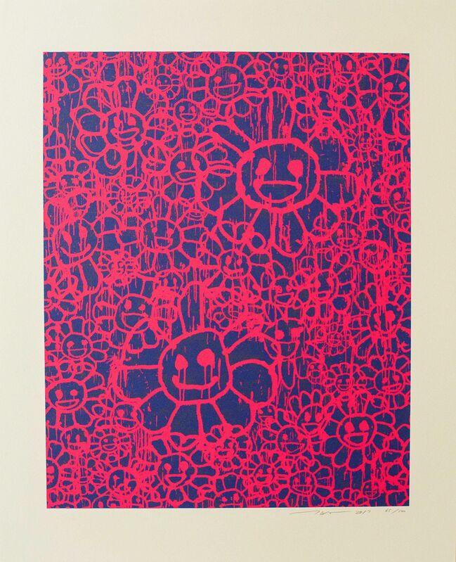 Takashi Murakami, 'Madsaki Flowers (A Pink)', 2017, Print, Silkscreen on thick paper, Lougher Contemporary