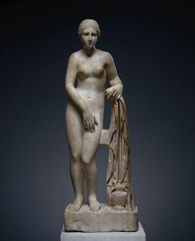 'Statuette of Venus (Venus de Clerq)', 175 -200, Marble with polychromy, J. Paul Getty Museum