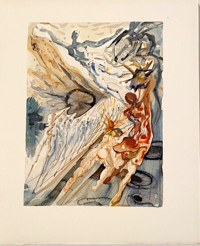 Salvador Dalí, 'La Divine Comédie - Purgatoire 26 - Rencontre de deux troupeaux', 1963, Print, Original wood engraving on BFK Rives paper, Samhart Gallery