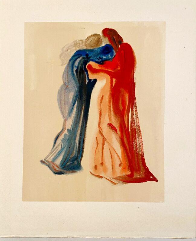 Salvador Dalí, 'La Divine Comédie - Purgatoire 29 - Rencontre de Dante et Béatrice', 1963, Print, Original wood engraving on BFK Rives paper, Samhart Gallery