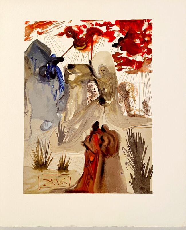 Salvador Dalí, 'La Divine Comédie - Purgatoire 28 - La divine forêt', 1963, Print, Original wood engraving on BFK Rives paper, Samhart Gallery