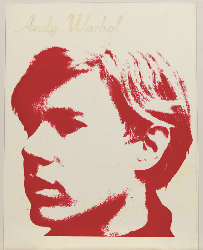 Andy Warhol, 'Self-Portrait embossed 'Andy Warhol' (upper edge); numbered 'A1191.120' (on the reverse) ', 1966, Painting, Silkscreen on vinyl, Visioner