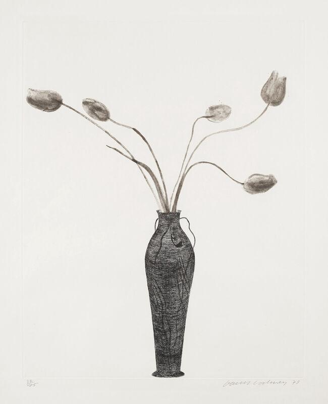 David Hockney, 'Tulips', 1973, Print, Etching and Aquatint, Gerrish Fine Art