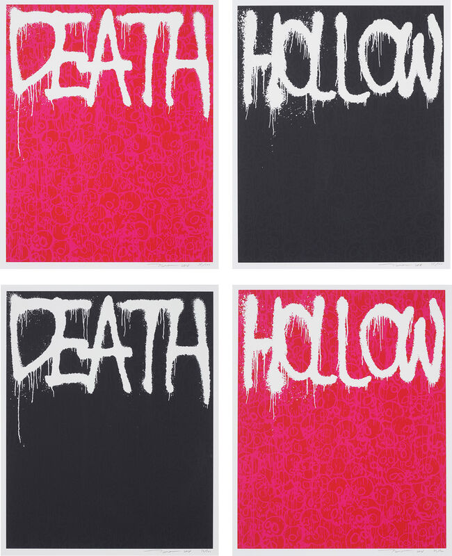 Takashi Murakami, 'Death (Red); Hollow (Black); Enso: Facing The Pitch Black Void; Death (Black); Hollow (Red); and Enso: A World Filled With Light', 2018, Print, Six screenprints in colours, on wove paper, with full margins., Phillips