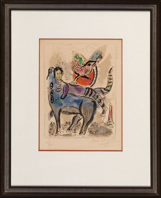 Marc Chagall, 'La vache bleu', 1967, Print, Lithographs in colors on paper, Heritage Auctions